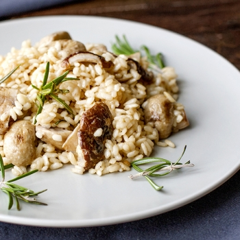 Simple risotto / mushroom risotto