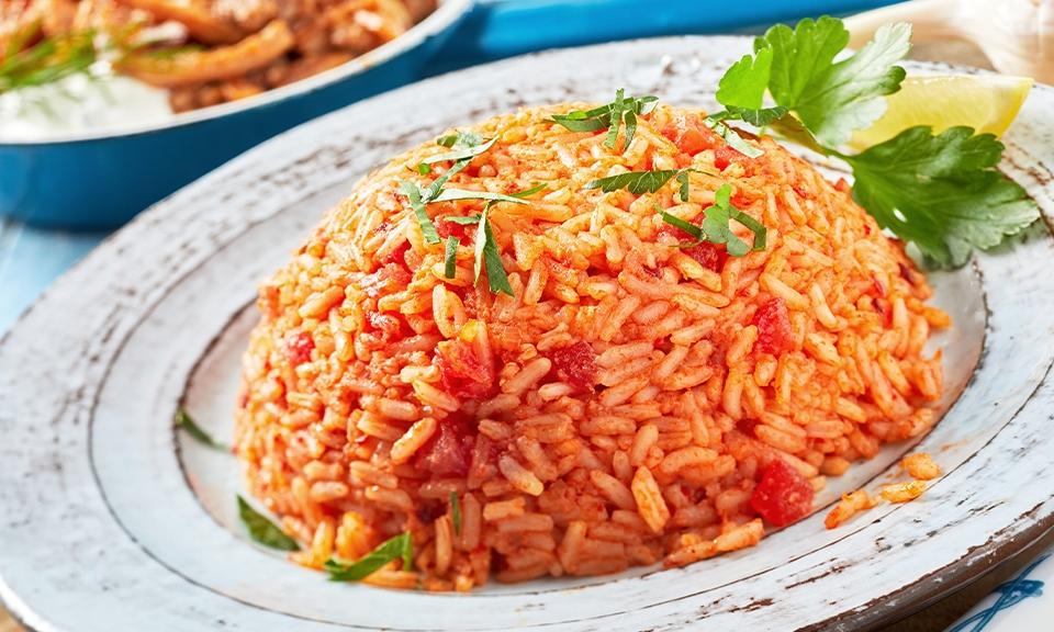 Saucy tomato rice