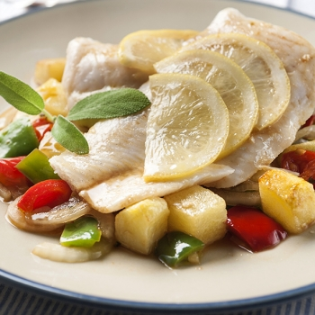 Steamed hake and potatoes