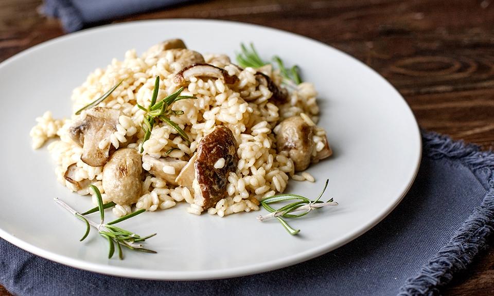 Simple risotto / mushroom risotto