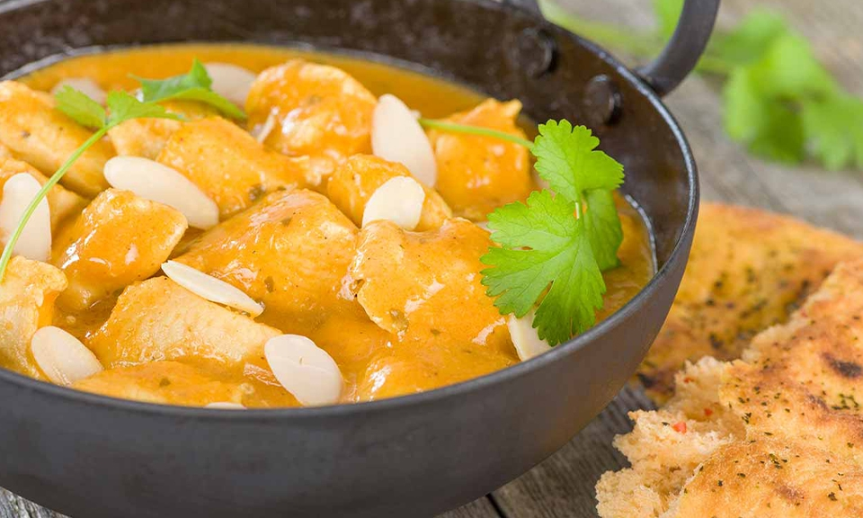 Almond and saffron chicken